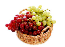 Grapes in a basket Royalty Free Stock Photos