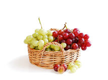 Grapes in a basket Royalty Free Stock Photo
