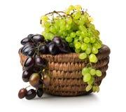 Grapes in basket Stock Photos