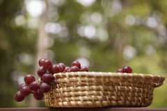 Grapes In A Basket Stock Photo