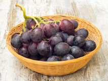 Grapes Basket on Table Royalty Free Stock Photo
