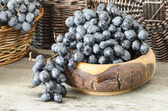Grapes in baskets Royalty Free Stock Images