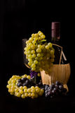 Grapes and Bottle Royalty Free Stock Photo