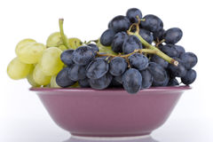 Grapes in a bowl Royalty Free Stock Photos