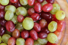 Grapes in a bowl Stock Image
