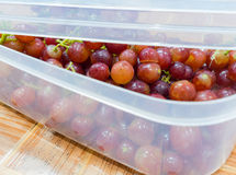 Grapes in a box. Grapes in box with a in selective focus Royalty Free Stock Photography