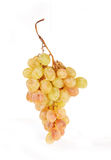 Grapes branch. The branch of pink grapes lies on a table Royalty Free Stock Image