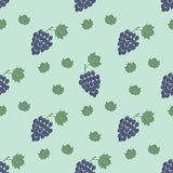 Grapes branch pattern stock illustration