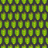 Grapes bunch pattern background design. Green grapes bunch pattern in black background design Stock Photography