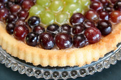 Grapes cake Stock Image