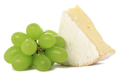 Grapes & Camembert stock photo