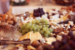 Grapes on candy bar Stock Photography