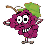 Grapes cartoon character Royalty Free Stock Images