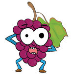 Grapes cartoon character Stock Image