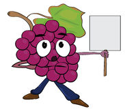 Grapes cartoon character Stock Photography
