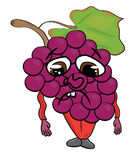 Grapes cartoon character Royalty Free Stock Image