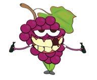 Grapes cartoon character Royalty Free Stock Photo