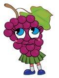 Grapes cartoon character Royalty Free Stock Image