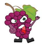 Grapes cartoon character Stock Photo