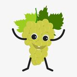 Grapes character icon Stock Image