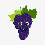 Grapes character icon Stock Photography