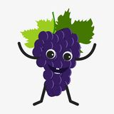 Grapes character icon Royalty Free Stock Image