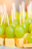 Grapes & cheese Stock Photo