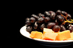 Grapes and Cheese Stock Images