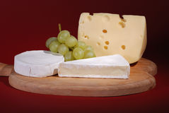 Grapes and Cheese Stock Photography