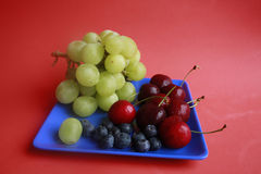 Grapes, Cherries, Blueberries Royalty Free Stock Photography