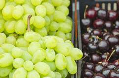 Grapes and cherries Stock Photo
