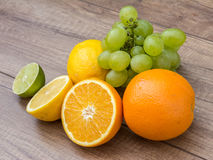 Grapes And Citrus Fruits Royalty Free Stock Image