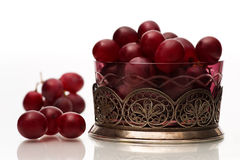 Grapes in a colored bowl Royalty Free Stock Photos