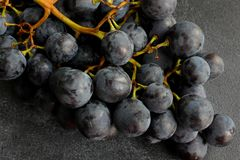 Grapes on dark board. close up Stock Images