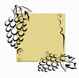 Grapes decoration Royalty Free Stock Photo