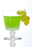 Grapes dipped into liquor Stock Photo