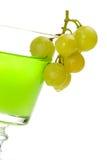 Grapes dipped into liquor Stock Photos