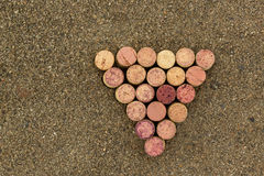 Grapes figure from the wine corks Stock Images