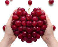 Grapes in the form of heart Stock Photos