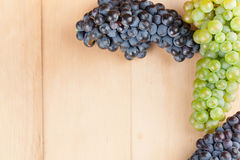 Grapes frame Royalty Free Stock Photos