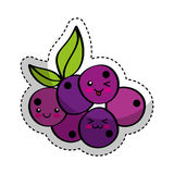 Grapes fresh fruit comic character Royalty Free Stock Photo