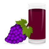 Grapes and fruit juice Royalty Free Stock Photography