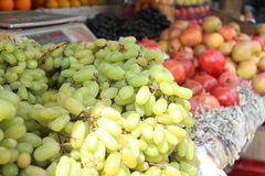 Grapes in fruit market Royalty Free Stock Images