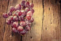 Grapes Fruit on wood Royalty Free Stock Image