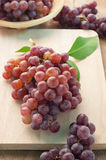 Grapes Fruit on Wooden Block. Royalty Free Stock Photo