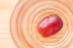 Grapes in a glass. Ripe grapes in a glass Royalty Free Stock Photos