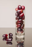 Grapes in a glass. Ripe grapes in a glass Stock Photos