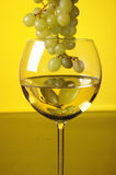 Grapes and glass of wine Royalty Free Stock Images