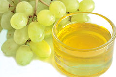 Grapes and grape oil Royalty Free Stock Photography