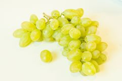 Grapes. Bunch of white sultana on white background Stock Photo
